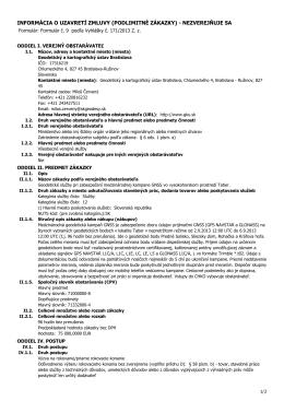 informácia o uzavretí zmluvy - Geodetický a kartografický ústav