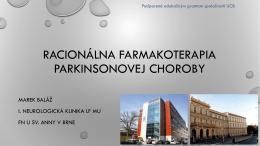 racionálna farmakoterapia parkinsonovej choroby (marek