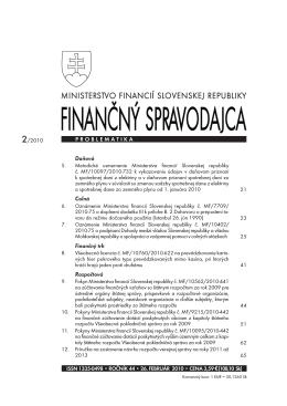 Finančný spravodajca 2/2010