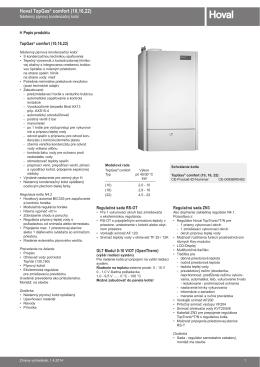 TopGas comfort technický katalog