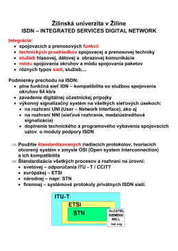 ISDN_2010 - Žilinská univerzita