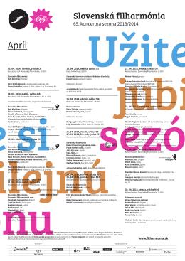 65. koncertná sezóna 2013/2014