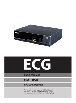 Návod zobrazíte kliknutím na tento odkaz: ECG DVT 850