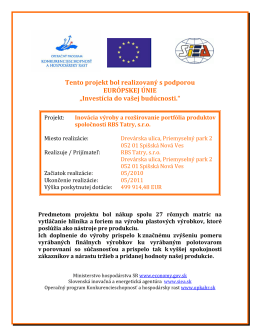 Projekt financovaný EU 2010