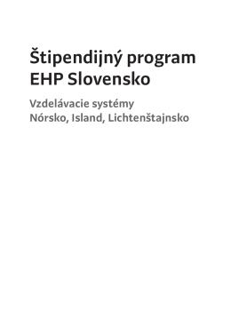 Vzdelávacie systémy Nórsko, Island, Lichtenštajnsko