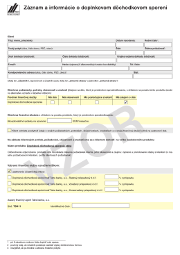 zmluvy - DDS Tatra banky