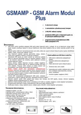 GSMAMP - GSM Alarm Modul Plus