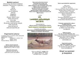 Pozvánka 2015.pdf - Poľovníctvo a rybárstvo