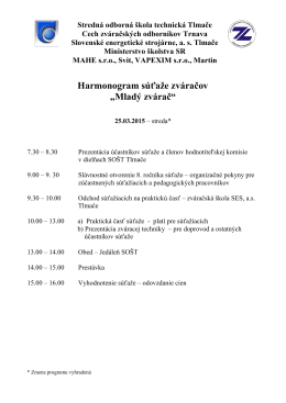 Mladý zvárač - Stredná odborná škola technická, Kozmálovská