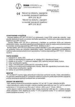 inštalačný návod DT85 4FP21036-39