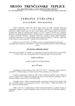 """""""Prestavba rodiného domu"""" Július Klačman"""