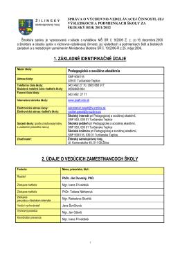 Vyhodnocovacia správa 2011/2012 (PDF)