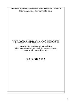 Výročná správa o činnosti_2012