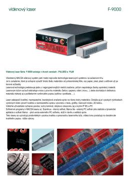 vláknový laser F-9000 vláknový laser F-9000
