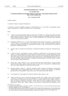 NARIADENIE KOMISIE (EÚ) č. 1303/ 2014
