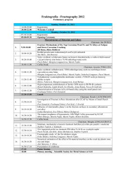 Predbežný program konferencie