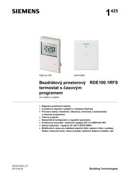 1425 Bezdrátový prostorový termostat s časovým