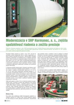 Modernizácia v SHP Harmanec, a. s., zvýšila spoľahlivosť riadenia a