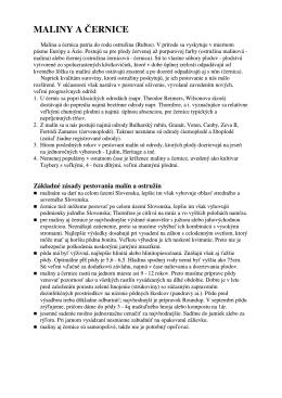 MALINY A ČERNICE - Centrum rozvoja záhradníctva, spol. s ro