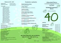 šk. rok 2014-2015 - Základná škola Slovenského národného
