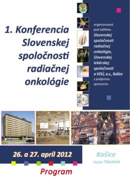program - Slovenská spoločnosť radiačnej onkológie