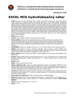 TL 61 EXCEL MIX Hydrofobizačný náter 2011
