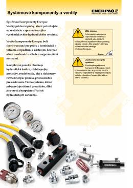 Systémové komponenty a ventily