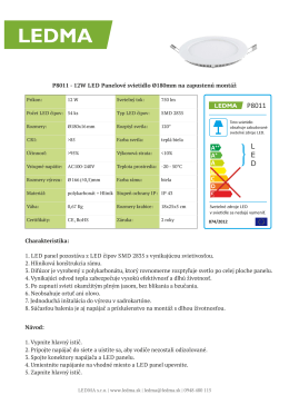 Technický list P8011 bez testov