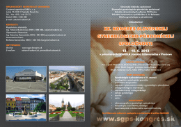 xx. kongres slovenskej gynekologicko