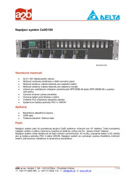 Napájací systém CellD100