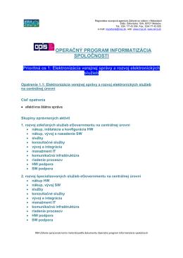 Operačný program Informatizácia spoločnosti (OPIS)