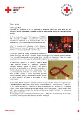 Tlačová správa Sviečkový pochod Bratislava, 28