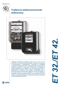 Trojfázové elektromechanické elektromery