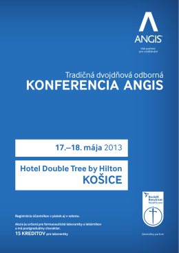 KONFERENCIA ANGIS Hotel Double Tree by Hilton KOŠICE