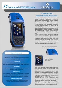 S7 Integrovaný GPS/GNSS systém