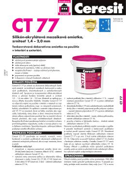 Technický list Ceresit CT 77