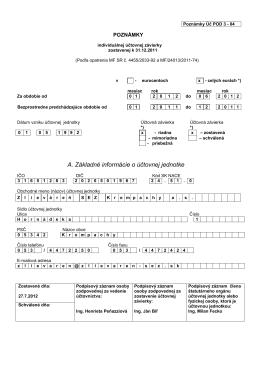 Poznámky k priebežnej ÚZ k 30.6.2012