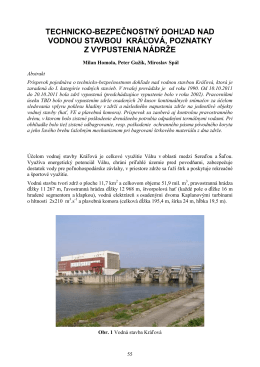 technicko-bezpečnostný dohľad nad vodnou stavbou kráľová