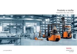 Katalóg produktov a služieb - Toyota Material Handling Slovensko