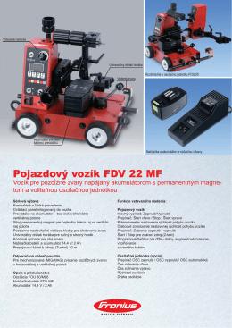 Pojazdový vozík FDV 22 MF