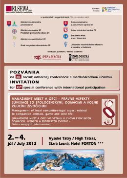 POZVÁNKA INVITATION júl / July 2012 Vysoké