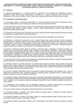 Všeobecné podmienky BitCompNet s.r.o.