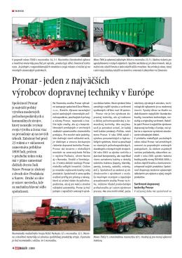 Pronar - jeden z najväčších výrobcov dopravnej