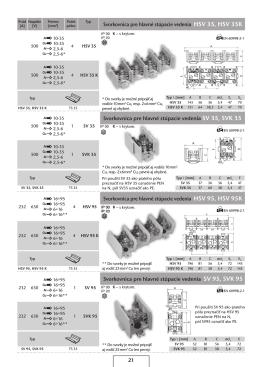 Svorkovnica pre hlavné stúpacie vedenia SV 35, SVk 35