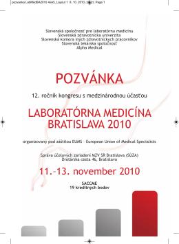 POZVÁNKA - Laboratórna medicína