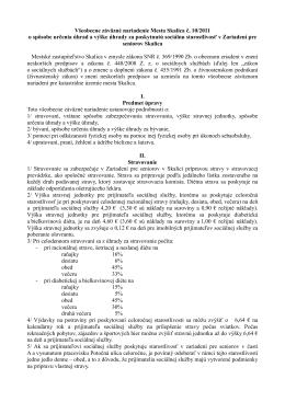 VZN č. 10/2011 o spôsobe určenia úhrad a výške úhrady