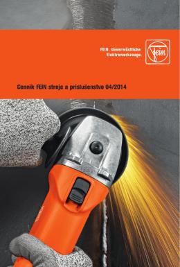 Cenník FEIN stroje a príslušenstvo 04/2014
