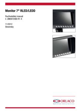 "Monitor 7"" RLED/LEDD"