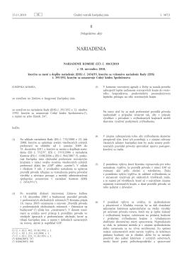 Nariadenie Komisie (EÚ) č. 1063/2010 z 18