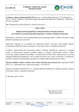 Vyhlásenie vrcholového vedenia PDF